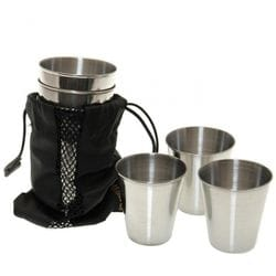 Набор стаканов FASTEN из нержавеющей стали (Gl221)
