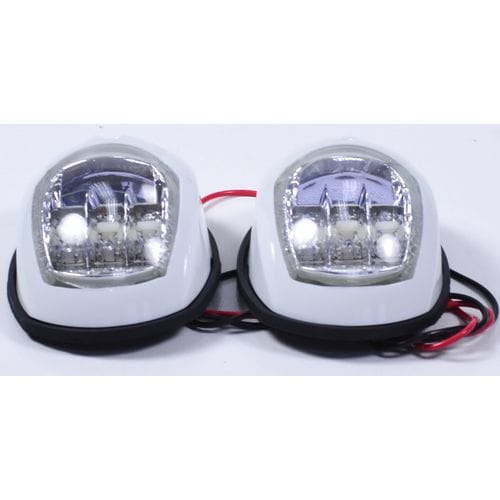 Пара LED навигационных огней, белый, C91006PW-1