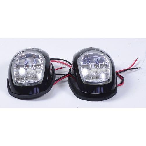 Пара LED навигационных огней, черный, C91006PB-1