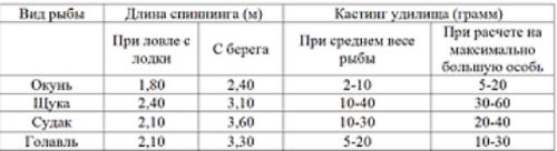 Кастинг-тест таблица